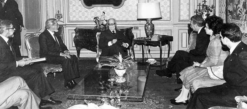 Il 7 febbraio il Presidente della Repubblica Sandro Pertini riceve al Quirinale i membri della Giunta di Presidenza.