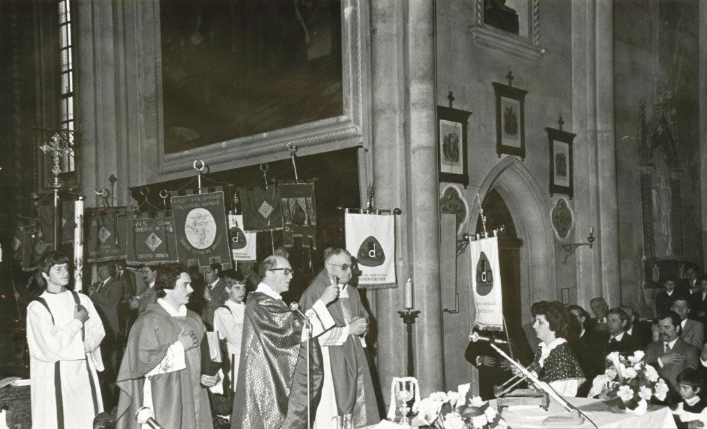 Benedizione Labaro neo costituita sezione AIDO Porcia 1983 Duomo S. Giorgio Martire